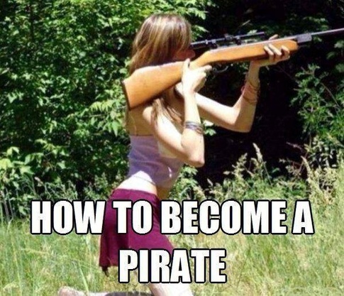 How to become a pirate meme