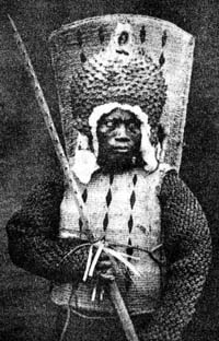 Nauruan warrior 1880ers